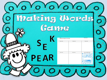 Making Words Game