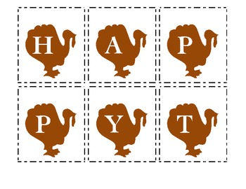 Making Words - Happy Thanksgiving