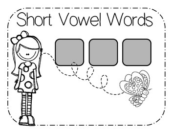 Making Words - Long and Short Vowel Mats with letters