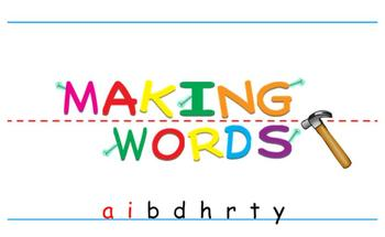 -ay Word Family Sorting Lesson- Birthday- Making Words for