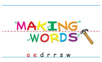 -aw Word Family Sorting Lesson- DRAWERS- Making Words for