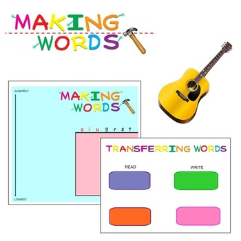 -ar Word Family Sorting Lesson- GUITARS- Making Words for
