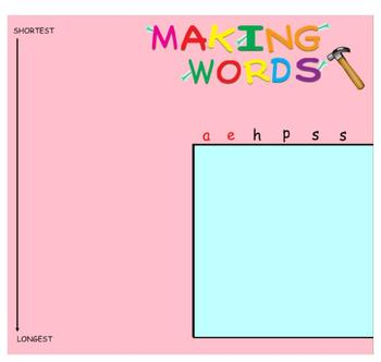-ash Word Family Sorting Lesson- SHAPES- Making Words for