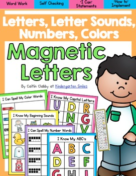 Magnetic Letters: Letters, Letter Sounds, Color Words, Num