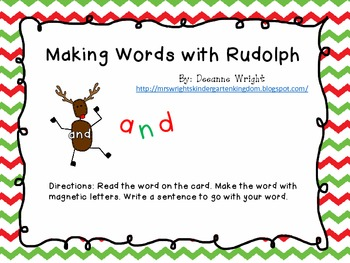 Making Words with Rudolph