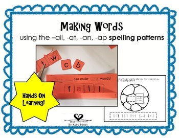 Spelling Patterns with Making Words Activities