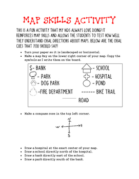Making a Map- Map Skills activity
