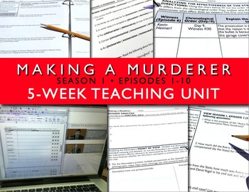 Making a Murderer Teaching Unit Season 1