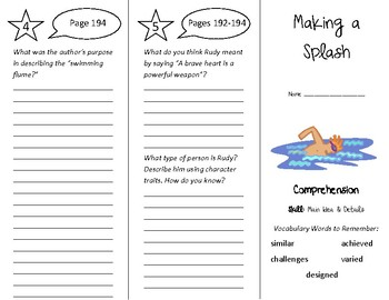 Making a Splash Trifold - Treasures 4th Grade Unit 2 Week