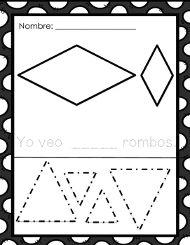 Making a rhombus/ Hacer un rombo