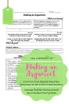 Making an Argument - High School