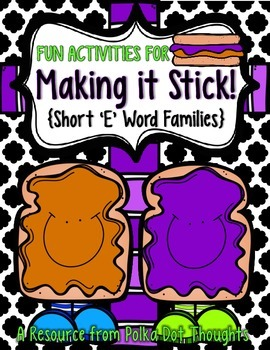 """Making it Stick! {Fun Activities for Short """"E"""" Word Families}"""