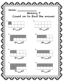 Addition Making Numbers 6-10 Missing Part using 10 frame