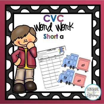 CVC Word Work: Making short a CVC Words and Word Families