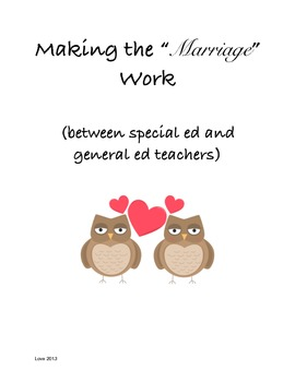 """Making the """"Marriage"""" work (between Special Educators and"""