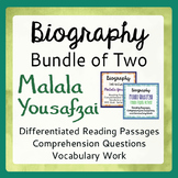 Malala Yousafzai Bundle for Classroom Differentiation Info