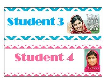 Malala Yousafzai Name Tags