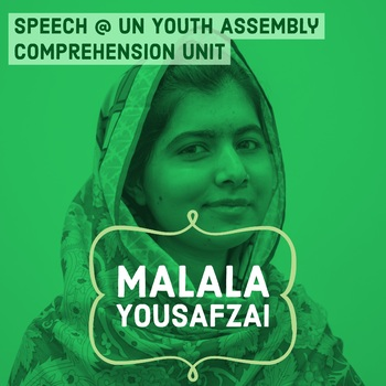 Malala Yousafzai UN Speech Activity Women's History & Int'