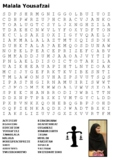 Malala Yousafzai Word Search
