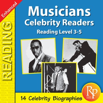 Male Musicians: Celebrity Readers - Enhanced