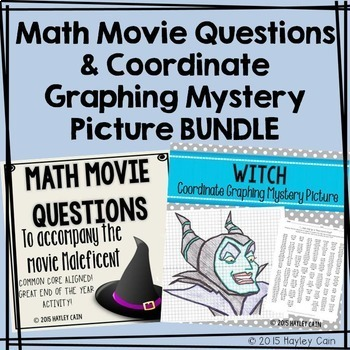 Math Movie Questions and Coordinate Graphing Mystery Pictu