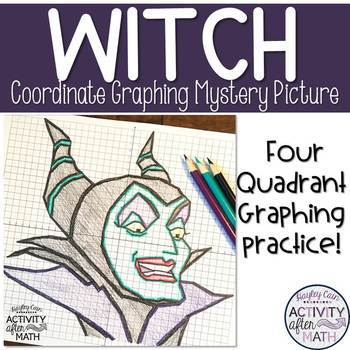 Witch Coordinate Plane Graphing Mystery Picture!