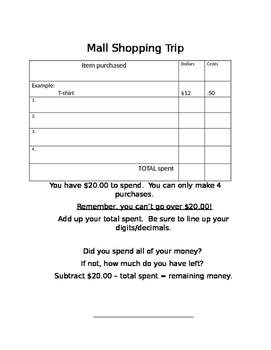 Mall Shopping Trip