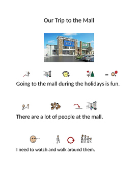 Social Story Mall with Symbol Stix