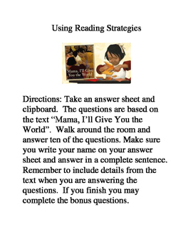 Mama, I'll Give You the World- Reading Strategies and Skil