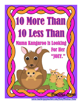 "Mama Kangaroo is Looking for Her ""Joey"" - 10 more than, 10"