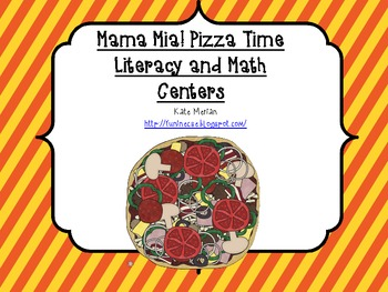 Mama Mia! Pizza Time Literacy and Math Centers for Pre-K a