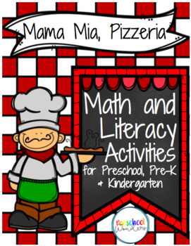 Mama Mia, Pizzeria Pizza Pack!  Math and Literacy Pizza Th