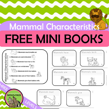 Mammal Characteristics FREE