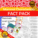 MAMMALS CHARACTERISTICS Fact Pack Informational Text Readi