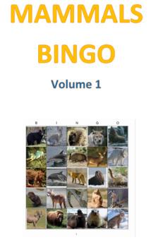 Mammals Bingo Volume 1