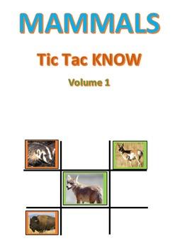 Mammals Tic Tac KNOW Volume 1