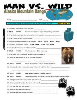 Man vs Wild Alaskan Mountain Range (video worksheet)
