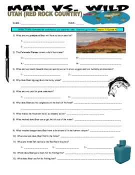 Man vs Wild Utah Red Rock Country (video worksheet)
