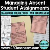 Managing Absent Student Assignments {While You Were Out, M