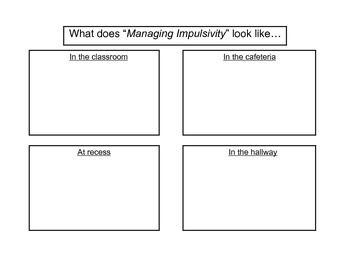 Managing Impulsivity Activity