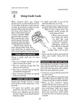 Managing Money: Buy Now, Pay Later-Using Credit Cards