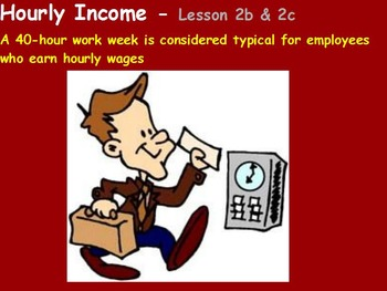 Managing a household - Hourly Income w worksheet; Real wor