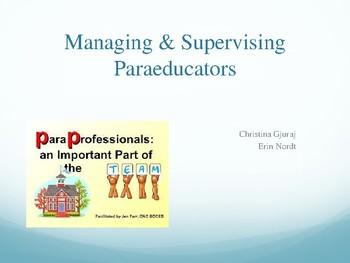 Managing support staff