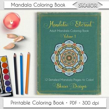 Mandala Coloring Book Adult Coloring Book Printable PDF Re