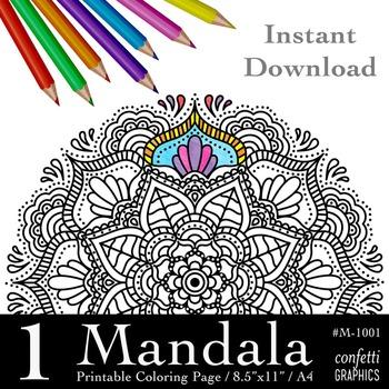 Mandala Coloring Page, Mandala Colouring, Mandala Flower H
