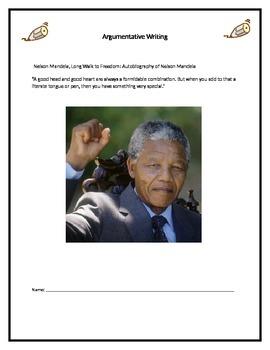 Mandela Argumentative Writing Unit