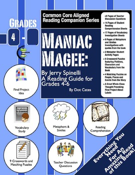 Maniac Magee:  A Common Core Aligned Reading Activity Comp
