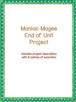 Maniac Magee Final Project