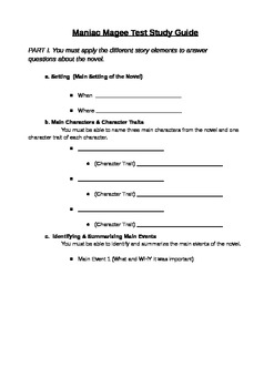 Maniac Magee Test Study Guide