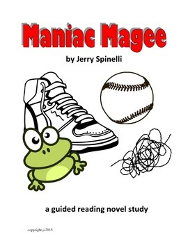 Maniac Magee a guided reading novel study